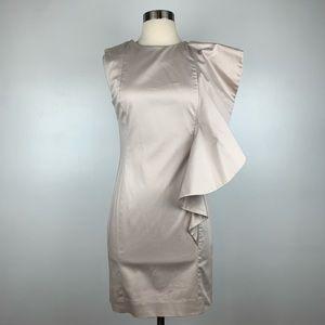 French Connection Ruffle Sheath Mini Dress 4